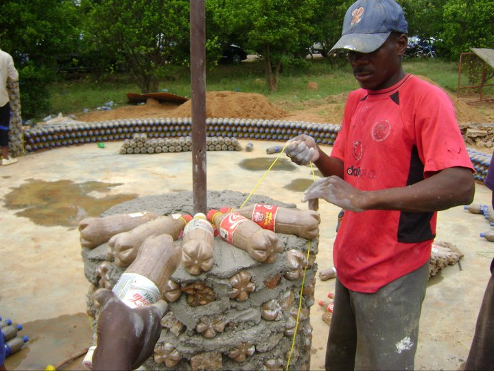 Nigeria s plastic bottle house eco nigeria - How to build an alley out of reused bricks ...